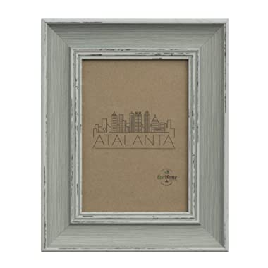 5x7 Picture Frame Distressed Blue - Mount Desktop Display, Frames EcoHome