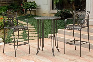 3 pc bar height patio bistro set - Bar Height Patio Table