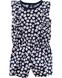 d145408f63c Amazon.com  Carter s Baby Girls  Floral Romper  Clothing