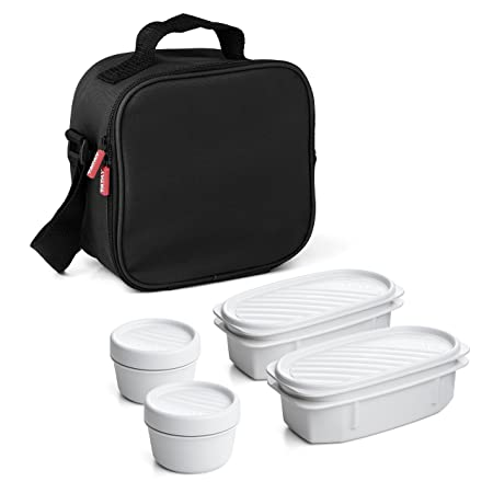 Tatay Urban Food Bolsa térmica Porta Alimentos con herméticos incluidos, Negro, 22.5 x 10 x 22 cm