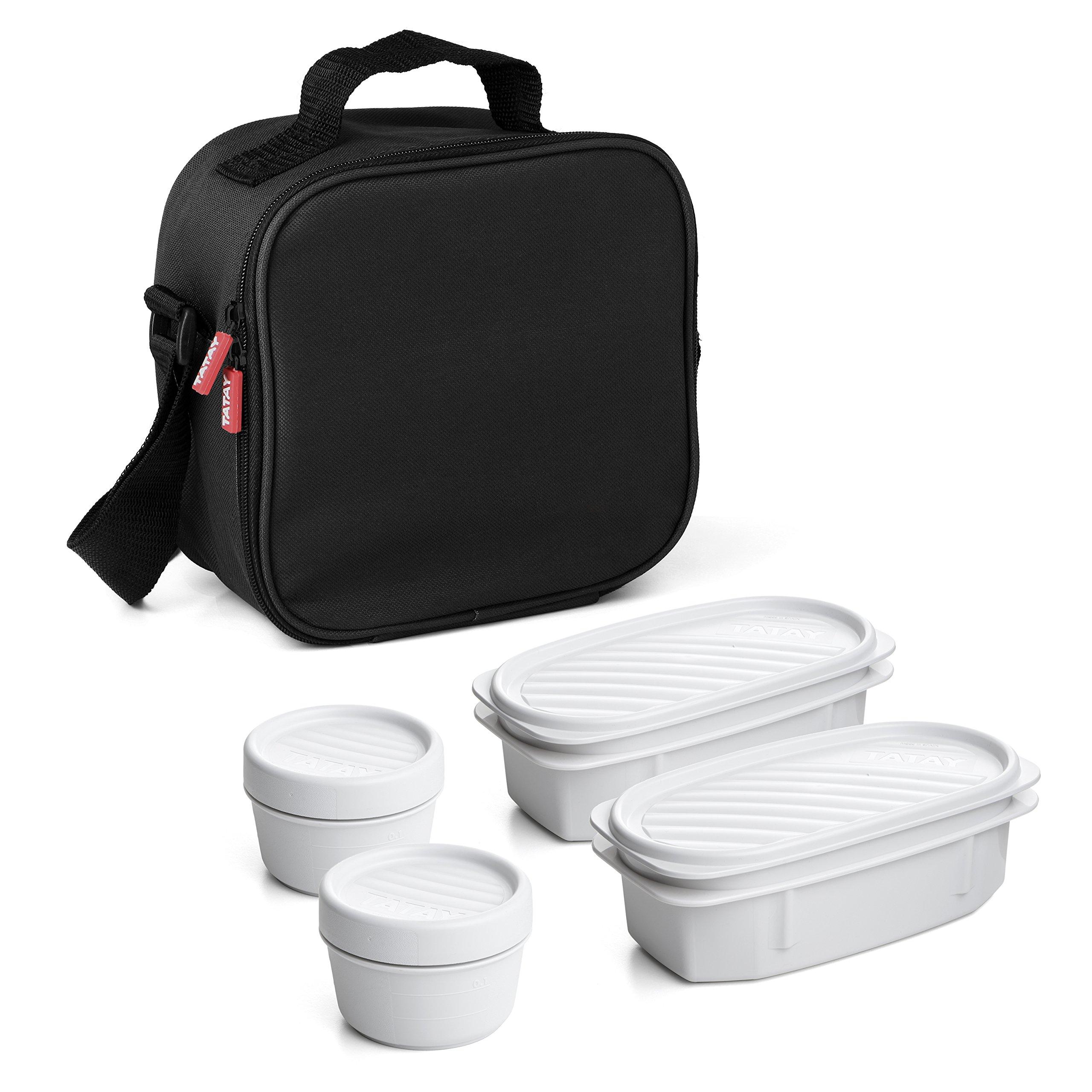 Tatay Urban Food Bolsa térmica Porta Alimentos con herméticos incluidos, Negro, 22.5 x 10