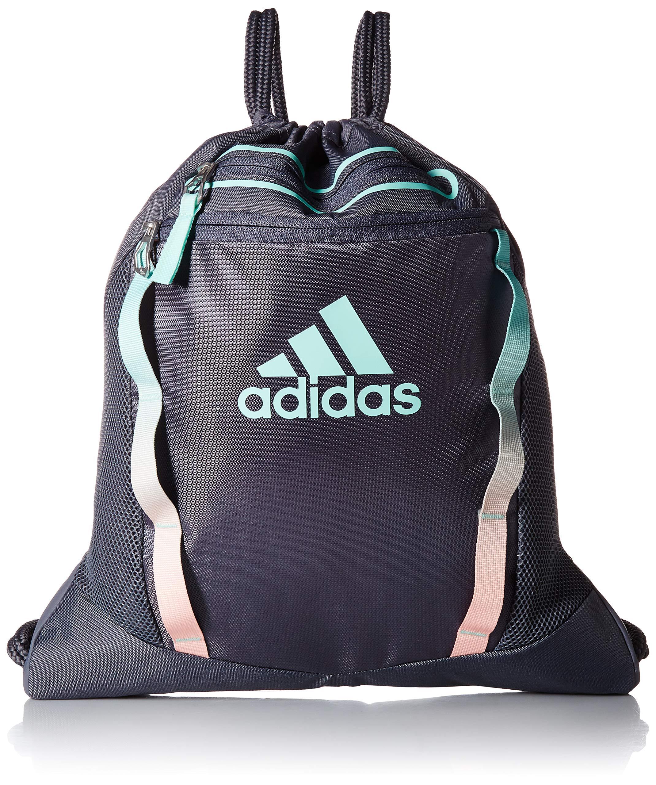 adidas Rumble II Sackpack, Onix/Clear Mint/Clear Orange, One Size