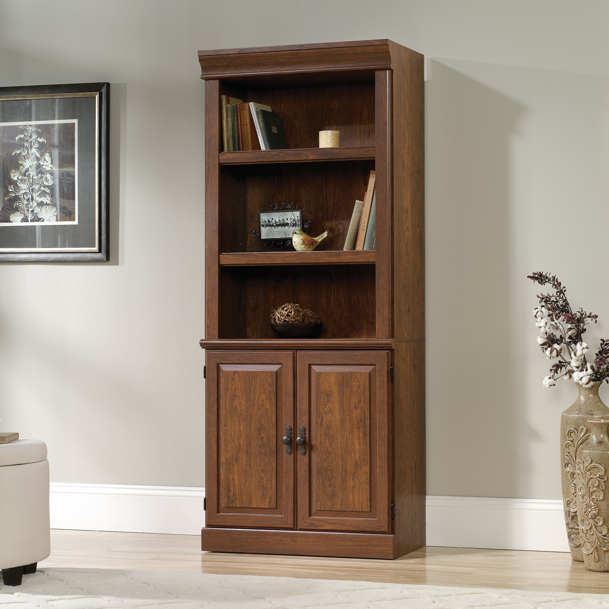 Sauder 418734 Orchard Hills Library with Doors, L: 29.45'' x W: 13.47'' x H: 71.50'', Milled Cherry finish by Sauder (Image #2)