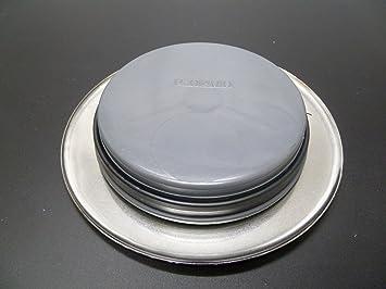 Saneaplast - Tapa Completa Bote Sifonico + Embellecedor Inox.751233: Amazon.es: Hogar