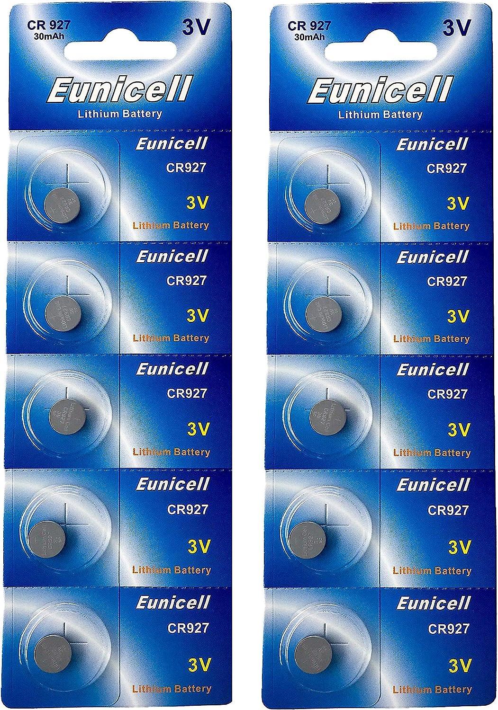 Eunicell 10 X Cr927 3v Lithium Knopfzelle 30 Mah Elektronik