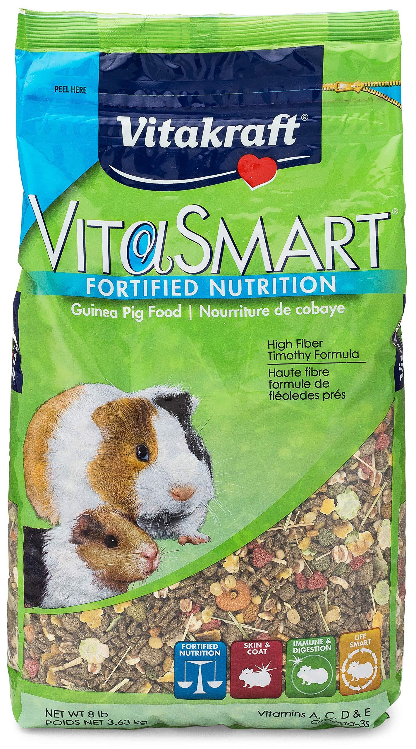 Vitakraft Guinea Pig Food High Fiber Timothy Formula (1 Pouch), 8 Lb by Vitakraft