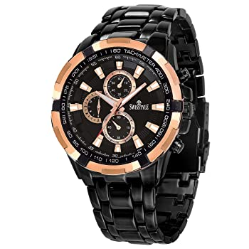 Swisstyle Anolog Black Dial Mens Watch