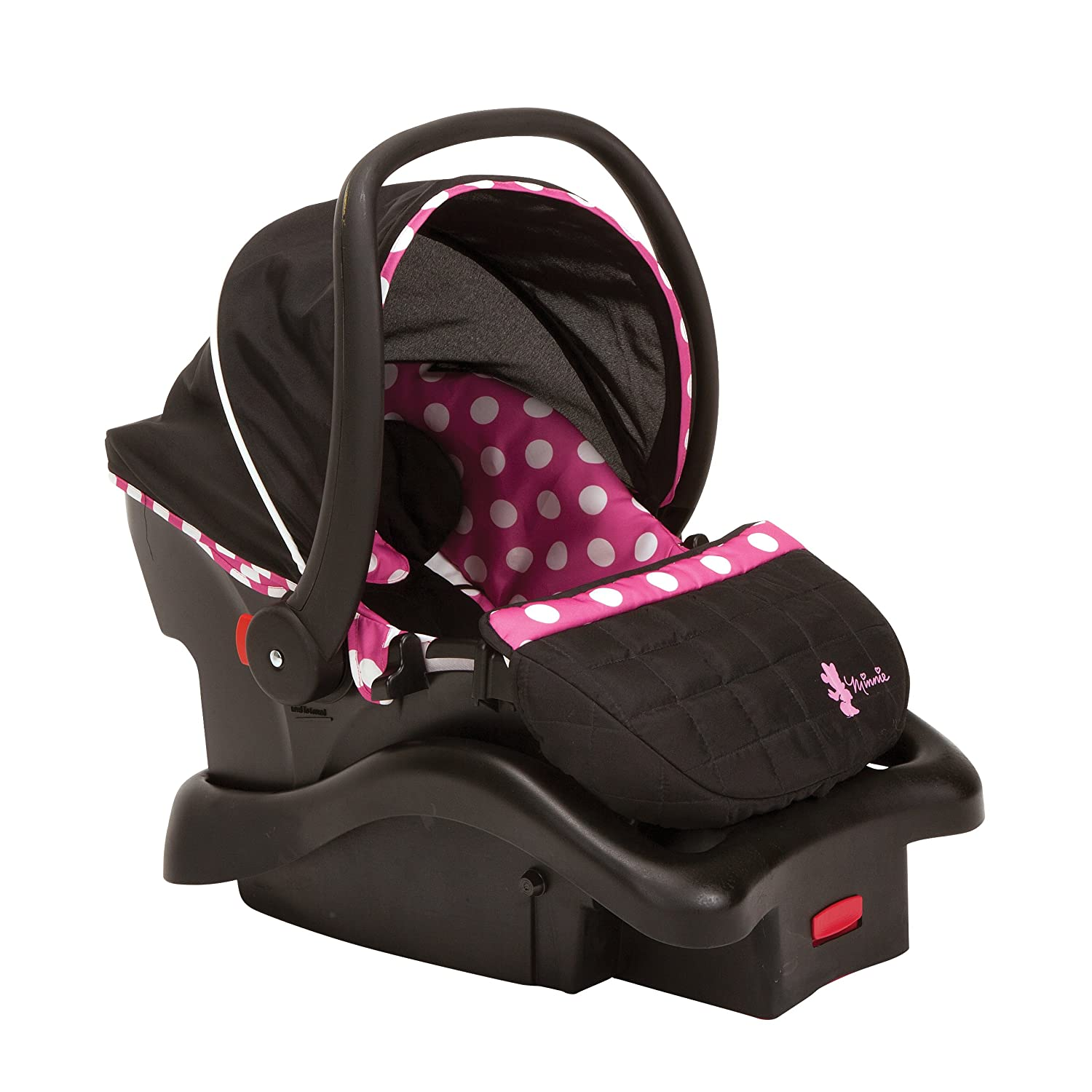 Amazon.com : Disney Light \'n Comfy Luxe Infant Car Seat, Minnie Dot ...