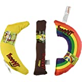 YEOWWW! CATNIP TOY VARIETY PACK ? CIGAR & BANANA & RAINBOW ? MADE IN USA
