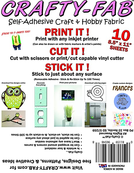 Vinyl Oasis - Inkjet Printable Peel & Stick Removable Fabric Wall