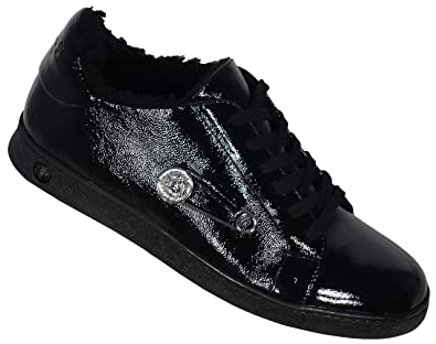 quality design detailed images save up to 80% Versus Versace Sneaker Patent/Safety Pin FSX013C FNKCY-Black ...