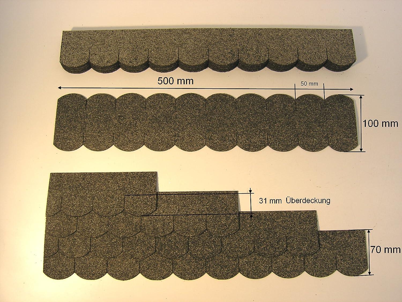 Martinshof Rothenburg Diakoniewerk 'Tuiles Mini alsacien (50mm)–Gris 23.413toit bardeaux Werkstätten Martinshof