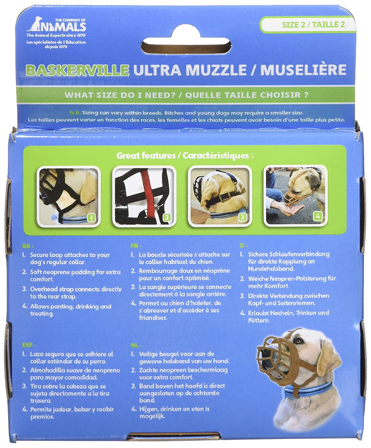 Amazon.com : Baskerville Ultra Basket Dog Muzzle - The Company of Animals - Adjustable and Comfortable Secure Fit - Durable Lightweight Rubber - Stops ...