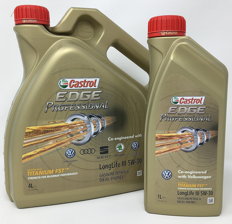 Aceite para motor Castrol Edge Professional LongLife III 5W-30, 5 litros (Nuevo envase 2018)