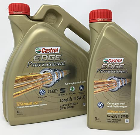 Aceite para motor Castrol Edge Professional LongLife III 5W-30, 5 litros (Nuevo