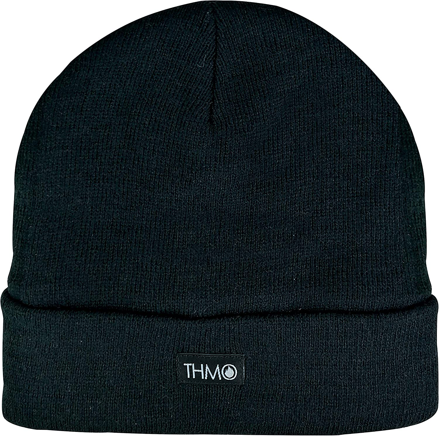 Men/'s Knitted Thinsulate Hat Fleece Lined Black Beanie Hat Thermal Winter Hats