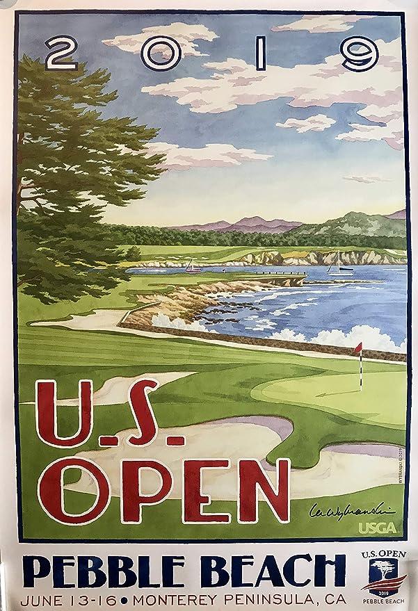 18960354 2019 U.S Open golf Poster pebble beach lee wybranski artist signed ...