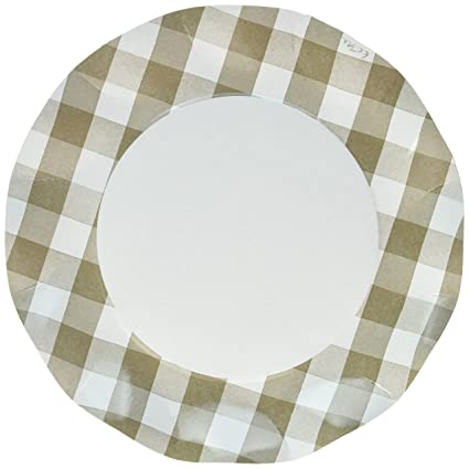 amazon com sophistiplate taupe beige gingham paper dinner plates
