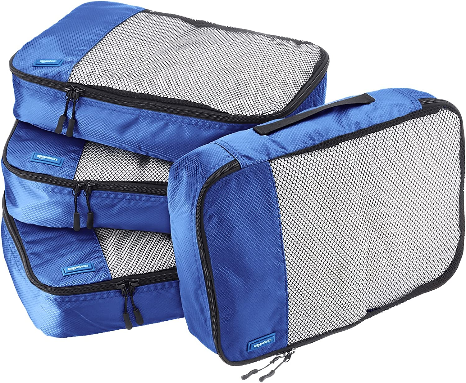 The AmazonBasics 4 Piece Packing Travel Organizer Cubes Set travel product recommended by Kalev Rudolph on Lifney.