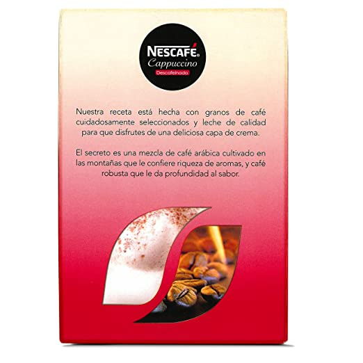 Nescafé - Café cappuccino descafeinado - 10 Sobres: Amazon.es: Alimentación y bebidas
