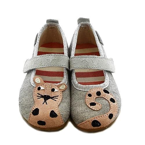 Living Kitzbühel Mädchen Ballerina Leopard Niedrige Hausschuhe