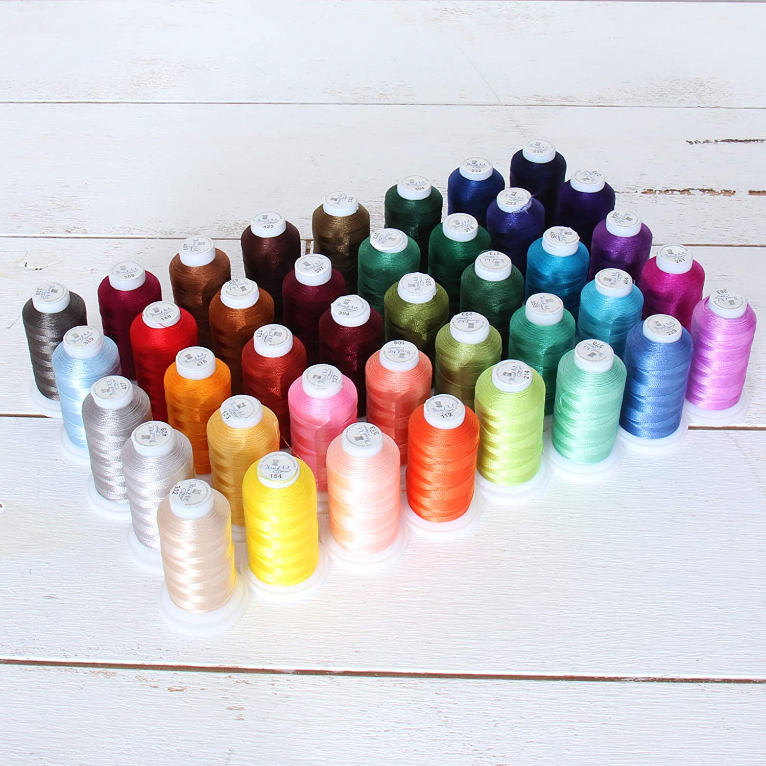 Colors 500 Meters 30 Metallic Embroidery Threads Spools 30 dif EACH 550 Yards