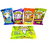 Ultimate Warheads Sour Candy Assortment - Includes Original Warheads Sour Candy, Pucker Packs, Worms, & Chewy Cubes