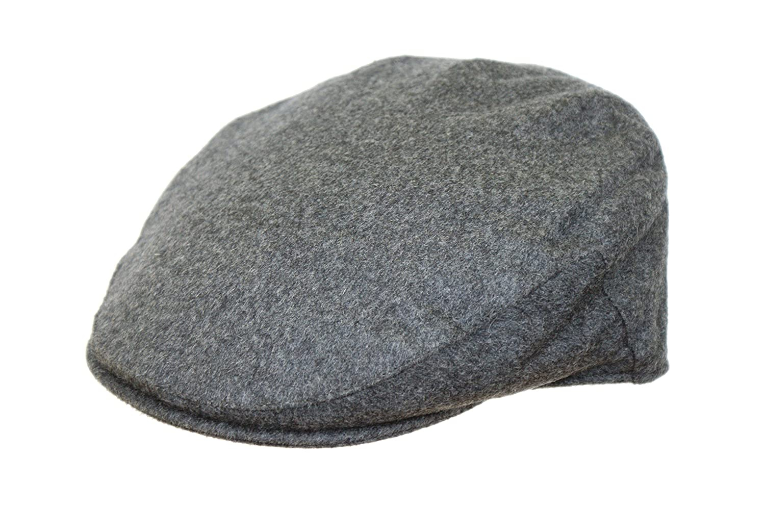 682207ae4a8 The Hat Outlet Men s Grey 100% Cashmere Flat Cap  Amazon.co.uk  Clothing