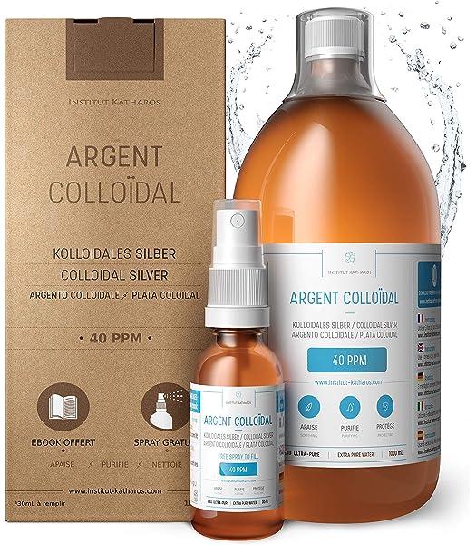 500ml Plata coloidal PureSilverH2O - Botella 500ml/25ppm Plata ...