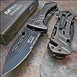 "Mtech Ballistic 8"" Bottle Opener Rescue Blade Pocket Knife"