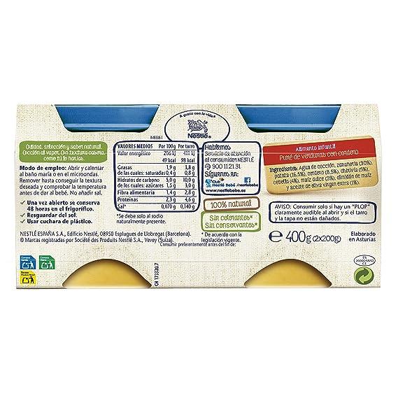 Nestlé Naturnes - Verduras con Cordero - Paquete de 2 x 200 g ...