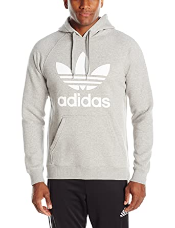 best website 3baa3 08273 adidas Originals Men s Trefoil Hoodie, Medium Grey Heather White, XX-Large   Amazon.co.uk  Clothing