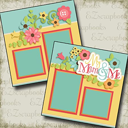 MOTHER EZ Layout 2050 Premade Scrapbook Pages
