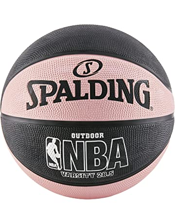 399d3a77f1c Spalding NBA Varsity Outdoor Rubber Basketball - Black/Pink - Intermediate  Size 6 (28.5