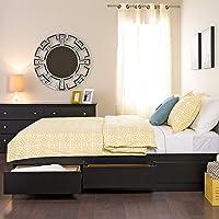 Prepac BBQ-6200-3K Queen Sonoma Platform Storage Bed with 6 Drawers, Black