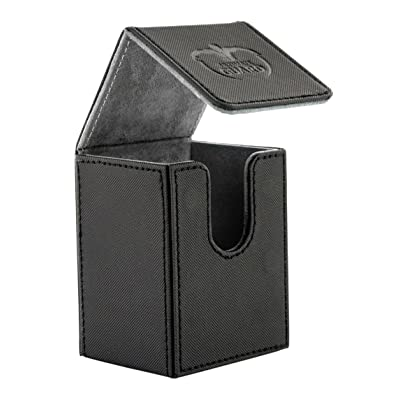 Ultimate Guard Flip Deck Case 80+ XenoSkin Standard Size Black Card Game: Toys & Games