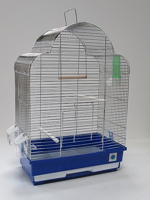 Elsa Chrome jaula de pájaros para Budgie Canario 60 x 42 x 25 cm ...