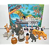 Disney The Jungle Book Deluxe Figure Set Of 13 With Mowgli, King Louie, Bageera, Baloo, The 4 Vultures, Shere Khan