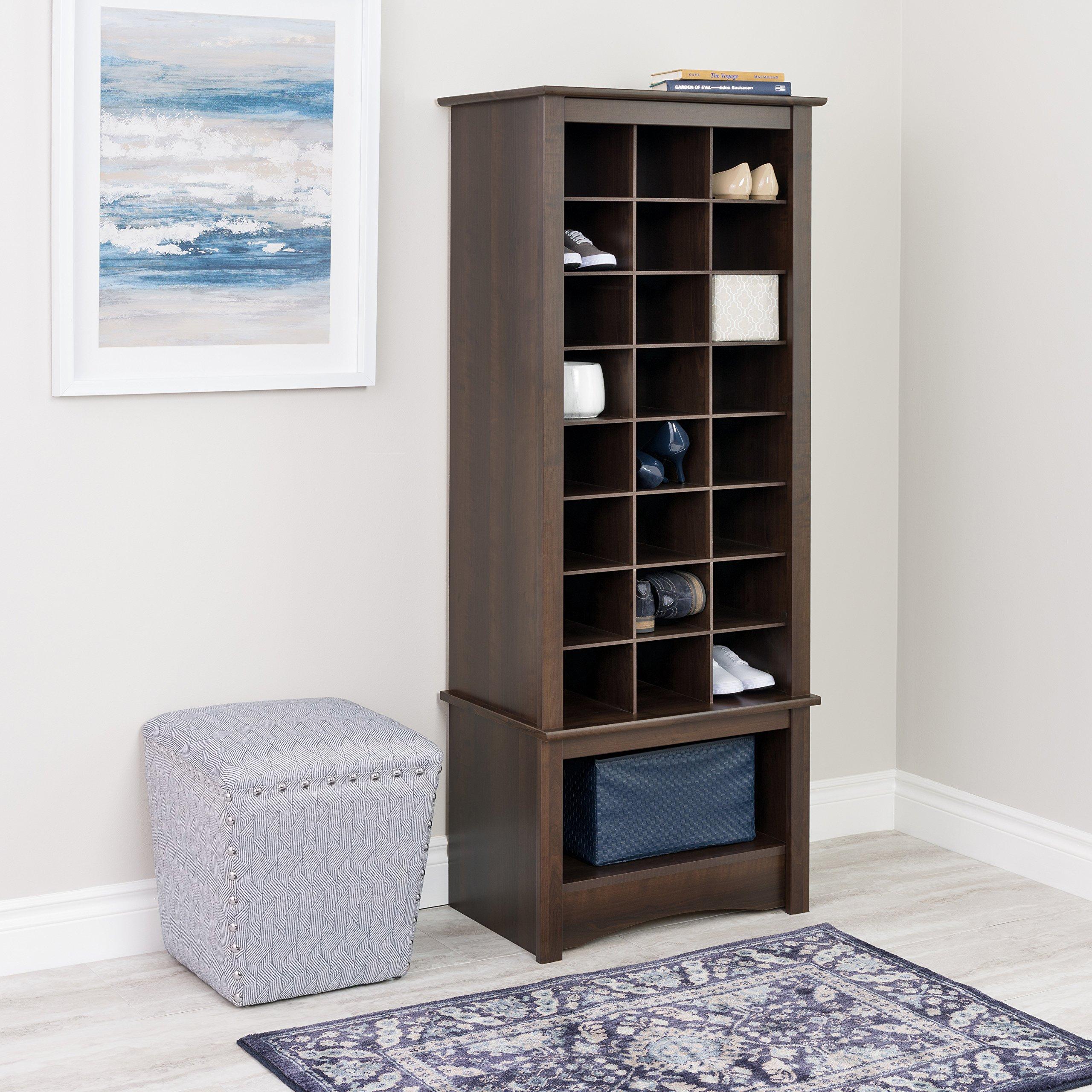 Espresso Tall Shoe Cubbie Cabinet by Prepac (Image #3)