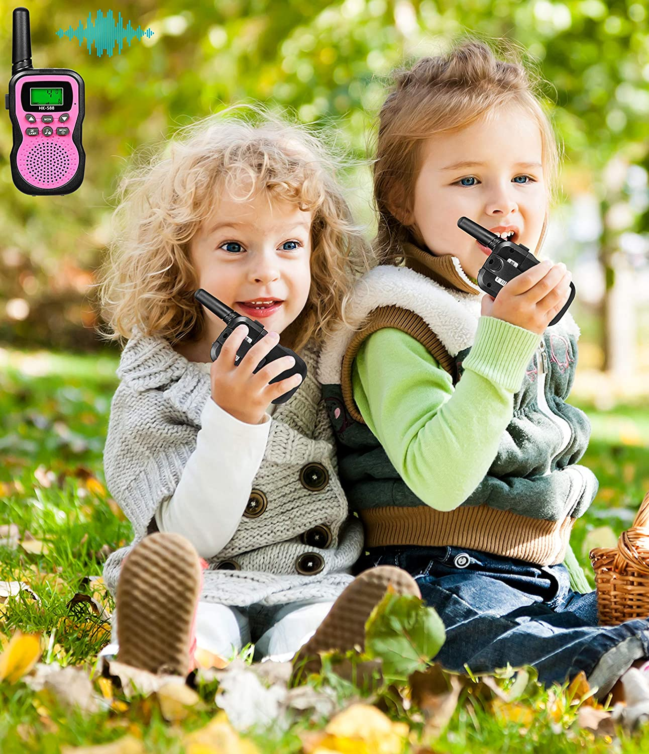 Green Best Gifts for Kid JRD/&BS WINL Toys Walkie Talkies for Kid,Fun Toys for 4-5 Year Old Boys,Kid Toys for 6-10 Year Old Travel Hunting,HK-588 1 Pair