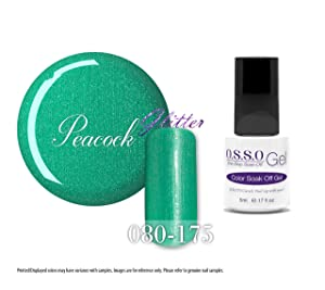 O.S.S.O Gel Polish Color One-Step Soak-off LED UV Cured No Base or Top Coat Need (Peacock)