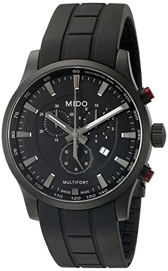 Amazon.com: Mido Mens M005.417.37.051.20 Swiss Multifort Chrono Quartz watch M0054173705120: Mido: Watches