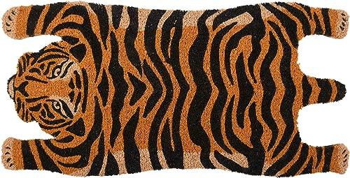 Esschert Design RB200 Tiger Coir Doormat, Orange Black