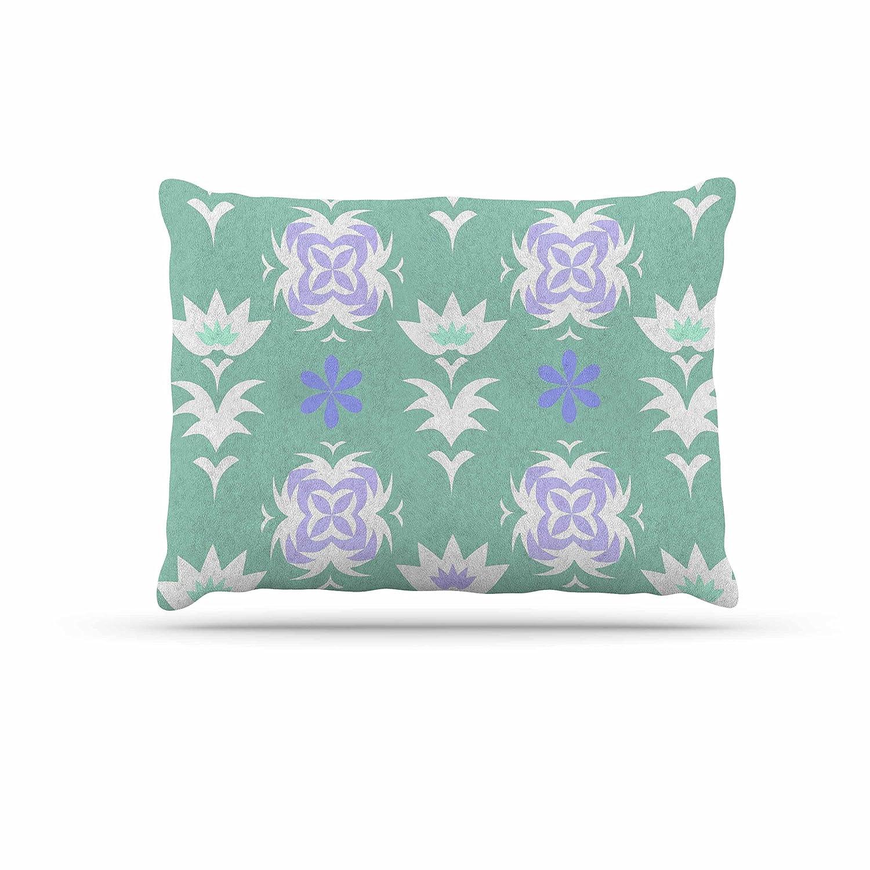 KESS InHouse Alison Coxon Hippy Flowers Lavender Kaleidoscope Dog Bed, 50  x 40