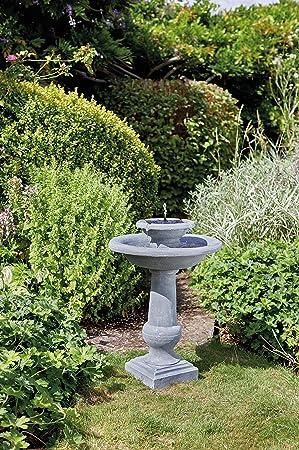 Superbe Solar Wasser Spiel Garten Brunnen Deko Springbrunnen Zier Brunnen Garten  Dekoration Wahlweise Mit LED Beleuchtung (