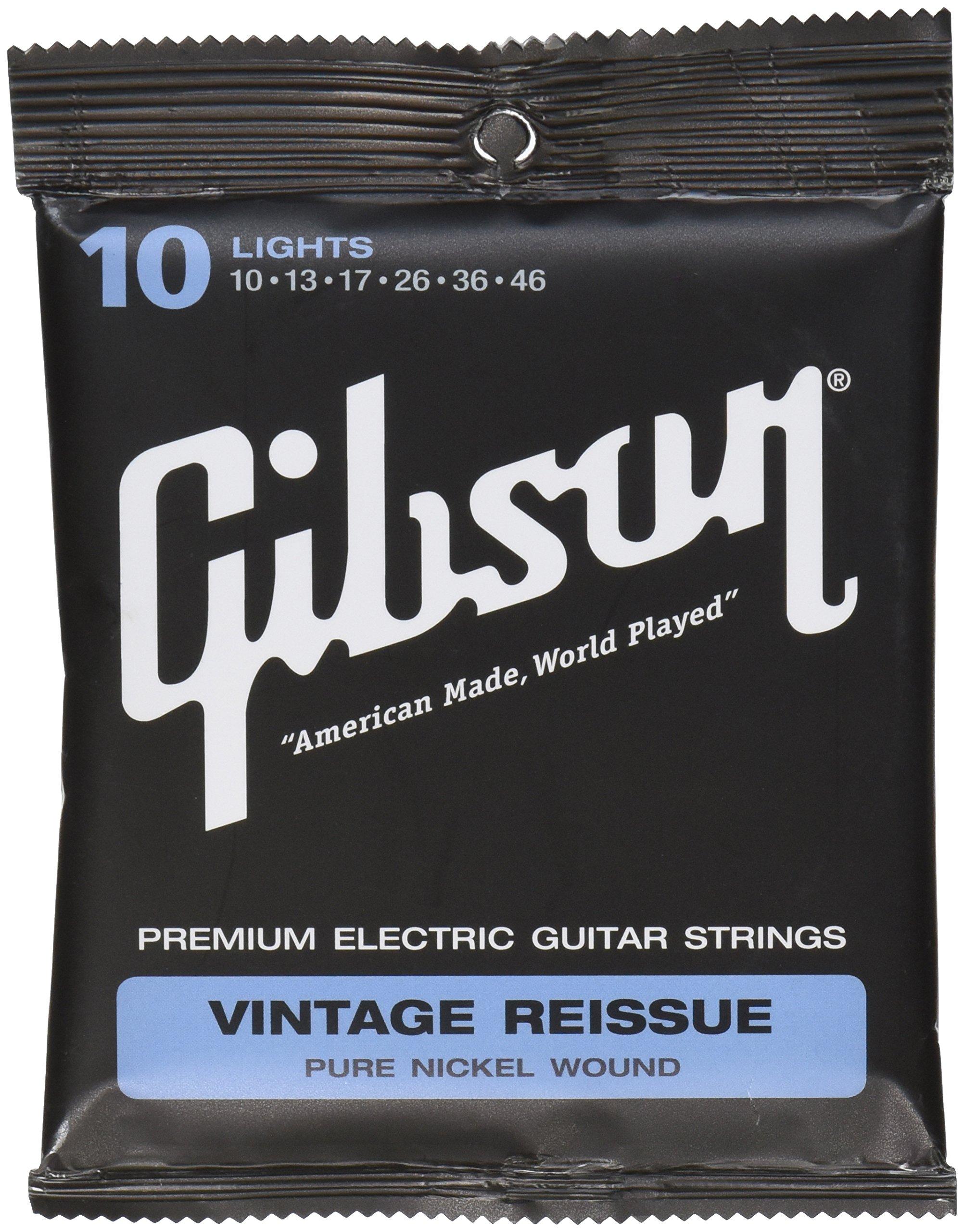 Gibson Gear SEG-VR10 - Juego de cuerdas para guitarra eléctrica, light product image