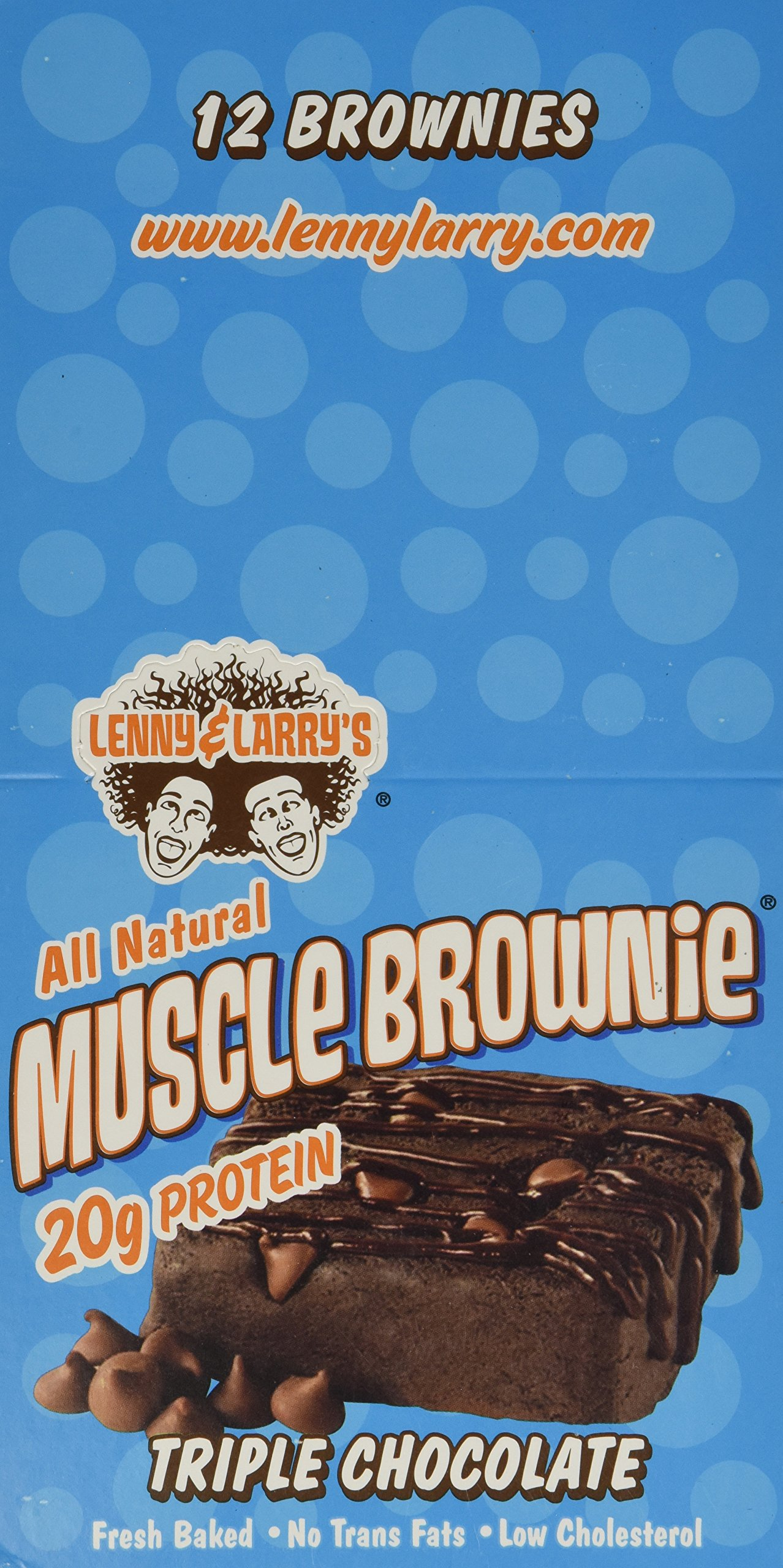 Lenny & Larry's Muscle Brownie Triple Chocolate -- 12 Bars