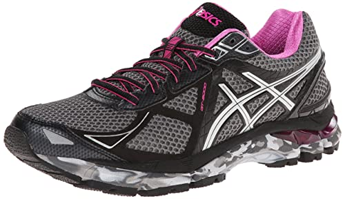 ASICS Women s GT-2000 3 Trail Charcoal Lightning Hot Pink 5 D – Wide