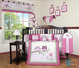 Boutique Pink Entranced Forest 13pcs Crib Bedding Sets