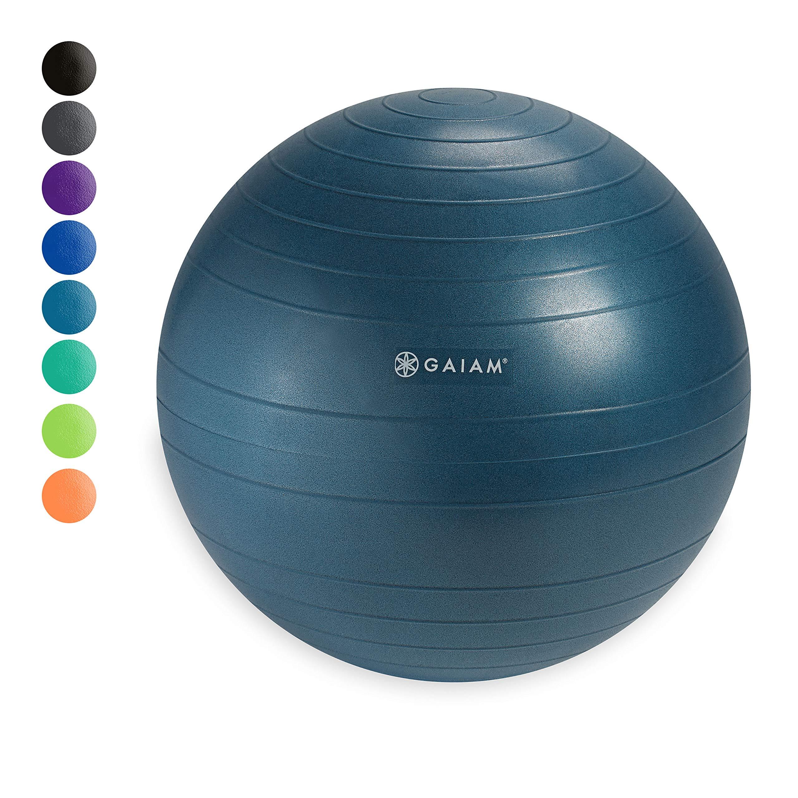 Gaiam Classic Balance Ball Chair Ball - Extra 52cm Balance Ball for Classic Balance Ball Chairs, Ocean Blue